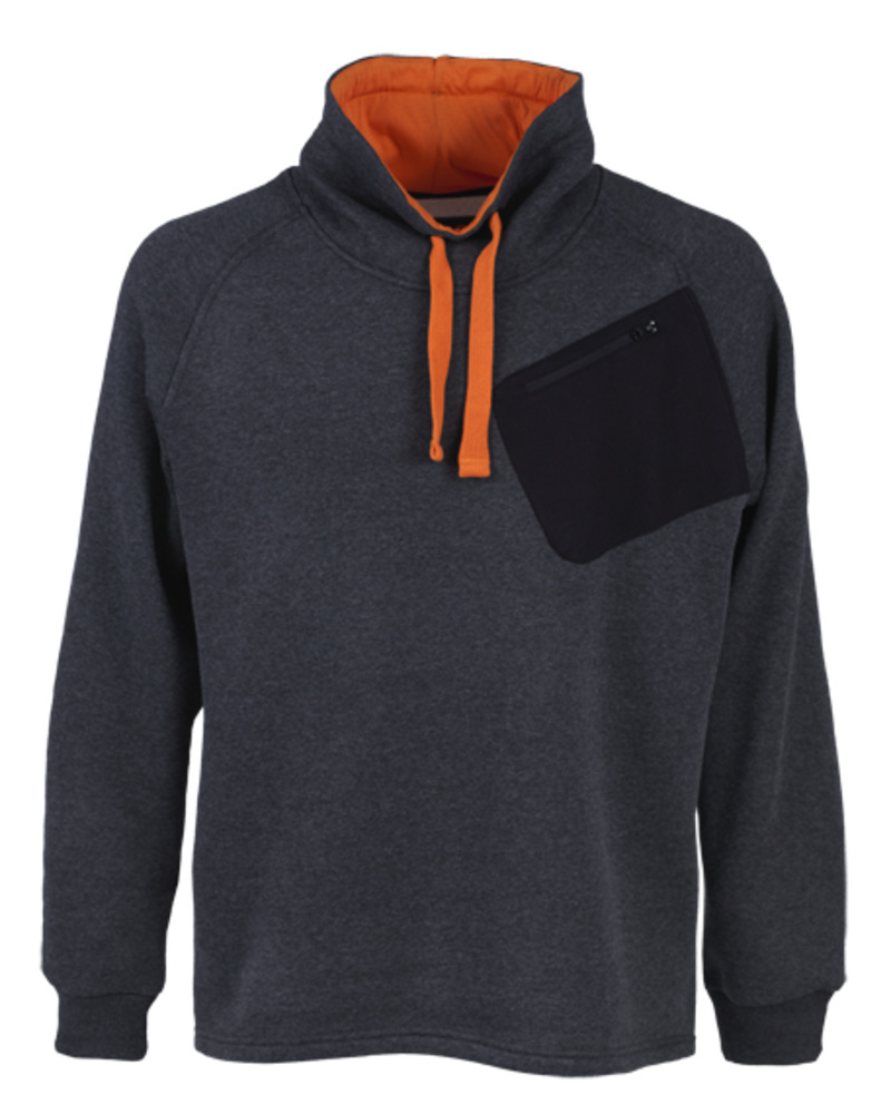 Sweat-shirt col châle HURON